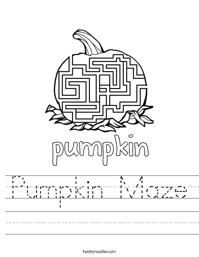Pumpkin Maze Worksheet