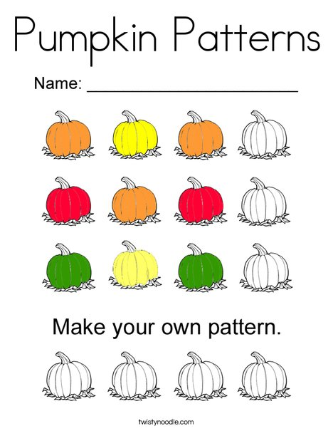 Pumpkin Patterns Coloring Page