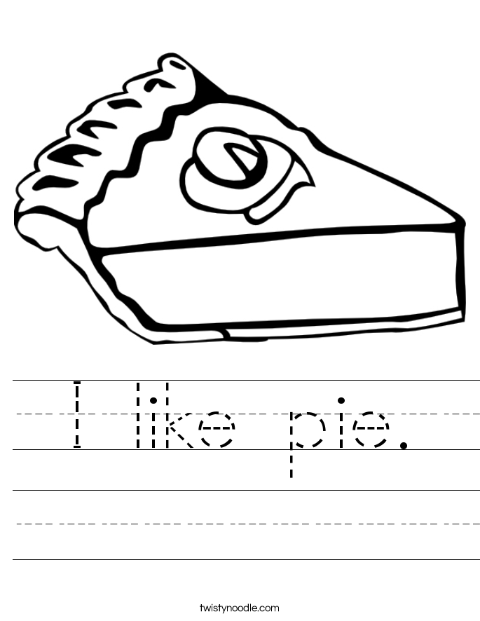 I like pie. Worksheet