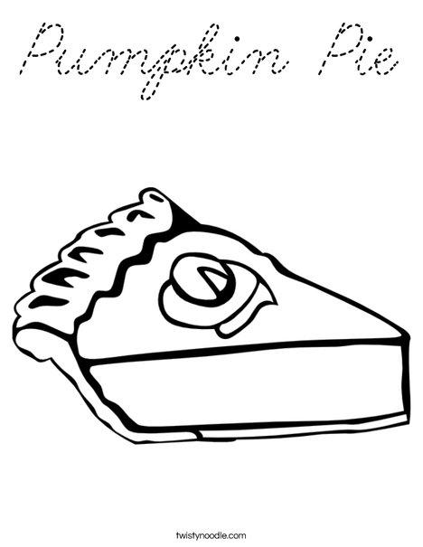 Pumpkin Pie Coloring Page