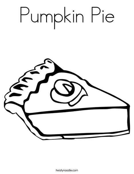 Pumpkin Pie Coloring Page Twisty Noodle