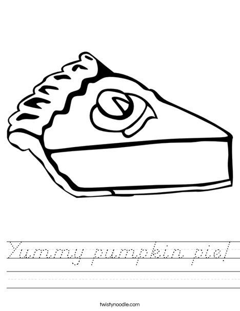 Pumpkin Pie Worksheet