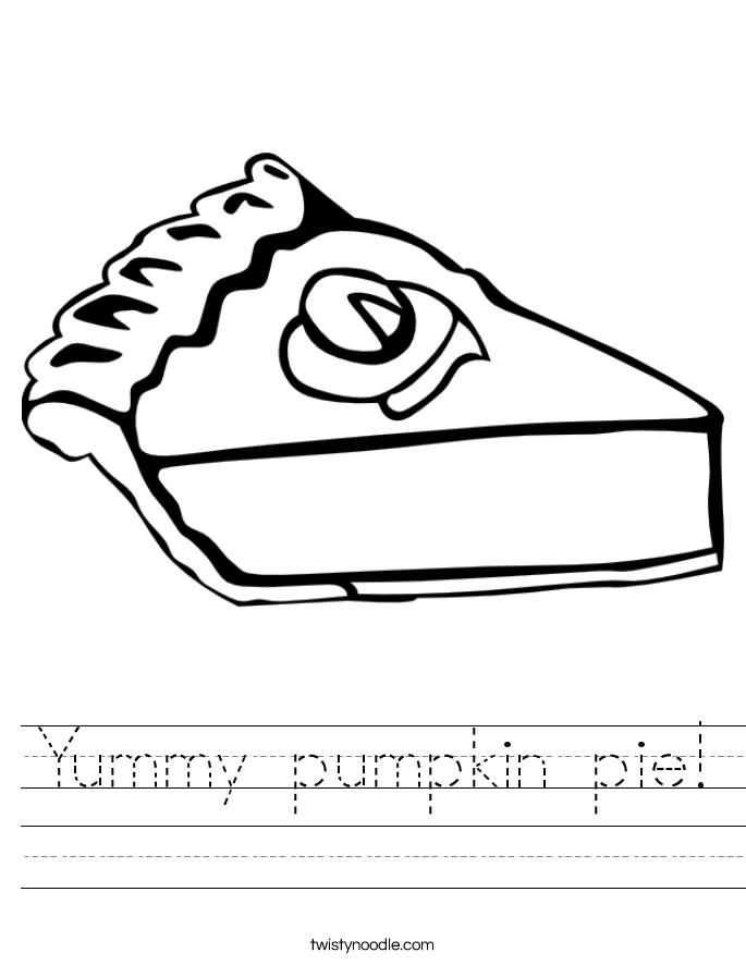 Yummy pumpkin pie! Worksheet