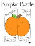 Pumpkin Puzzle Coloring Page