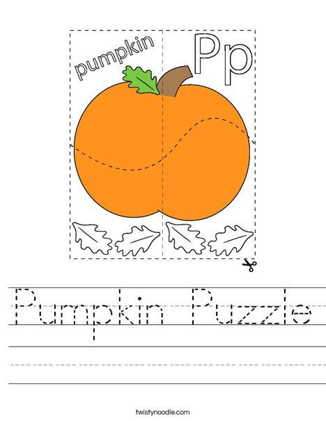 Pumpkin Puzzle Worksheet