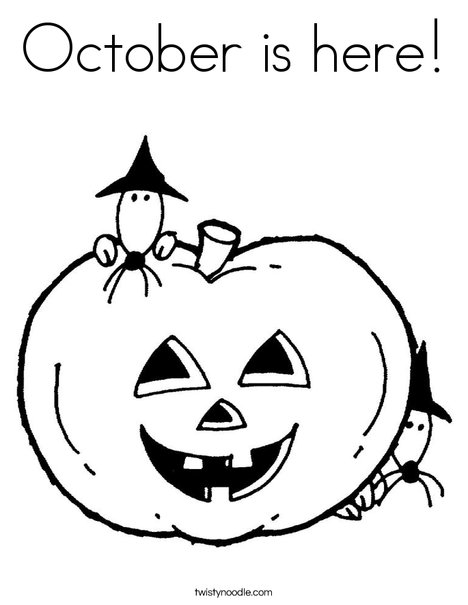 Pumpkin with Mice Coloring Page