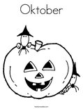 Oktober Coloring Page