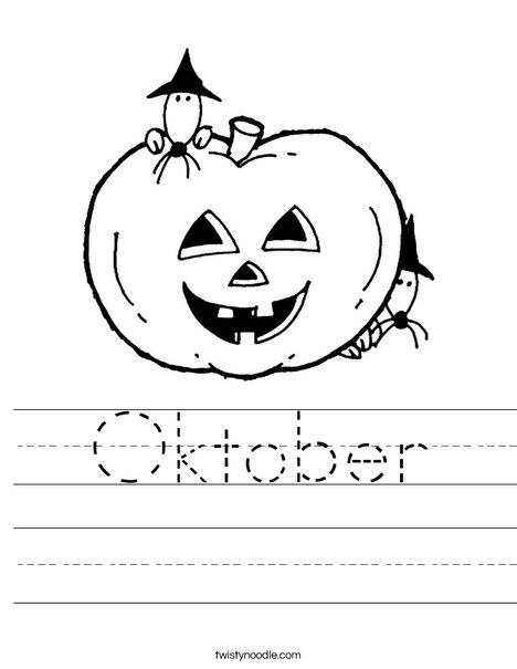 Pumpkin with Mice Worksheet
