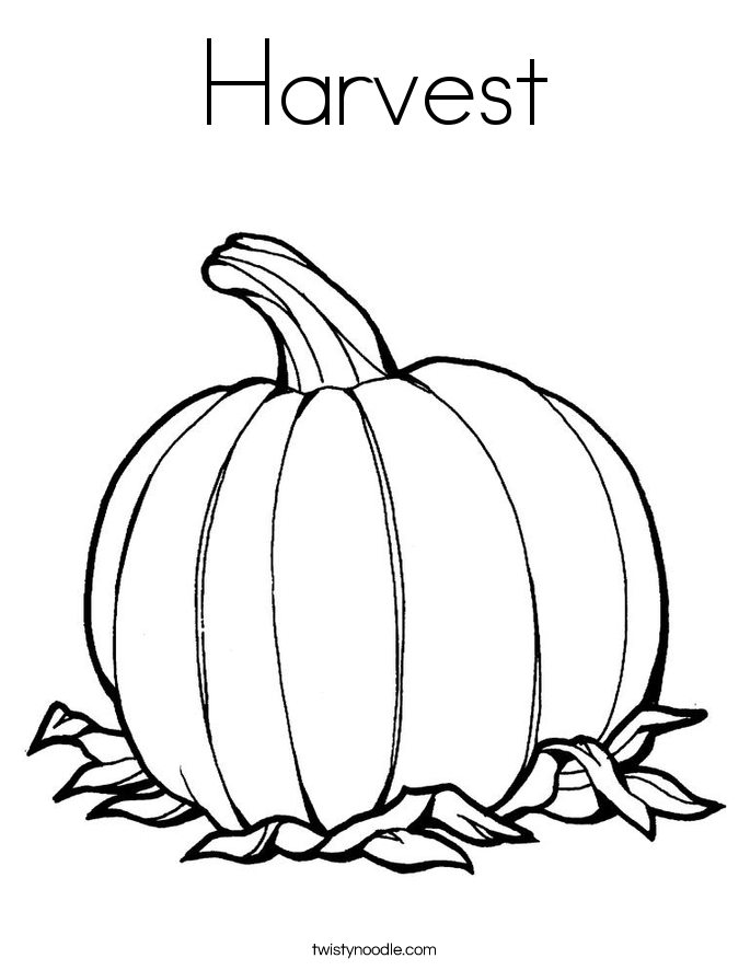 Harvest Vegetables Coloring Pages Harvest Coloring Page