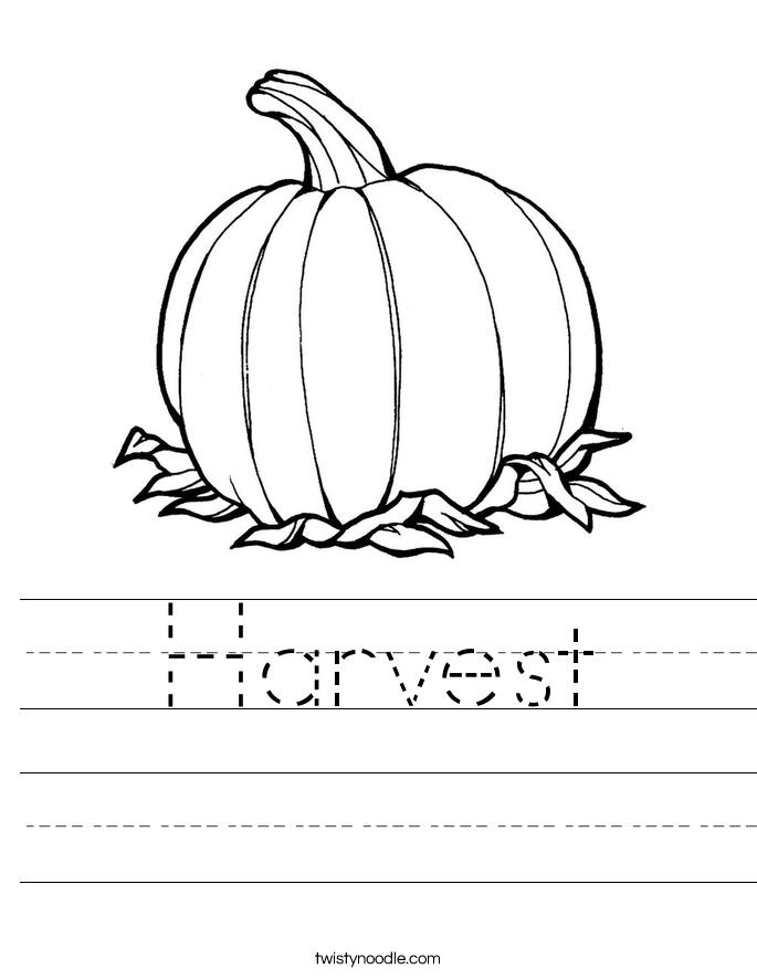 Harvest Worksheet