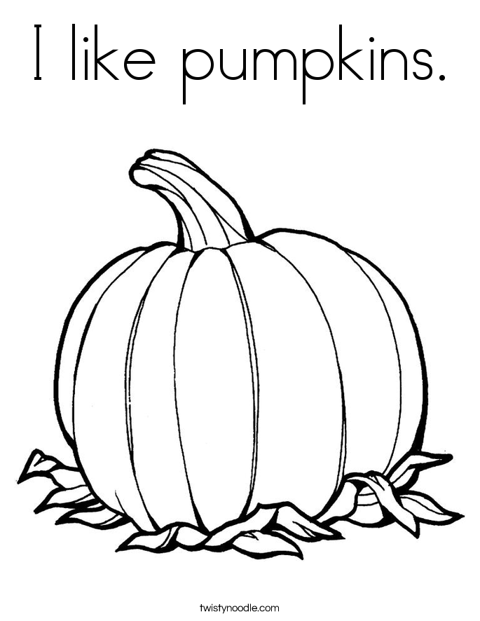 I like pumpkins. Coloring Page