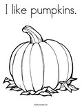 I like pumpkins.Coloring Page
