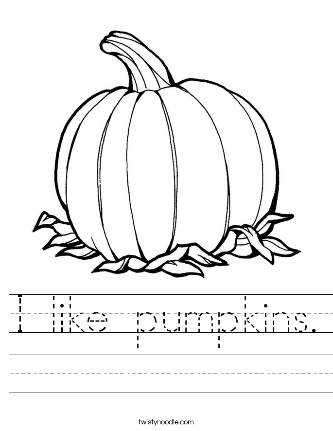 I like pumpkins. Worksheet
