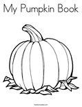 My Pumpkin BookColoring Page