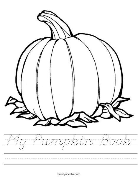 Pumpkin Worksheet