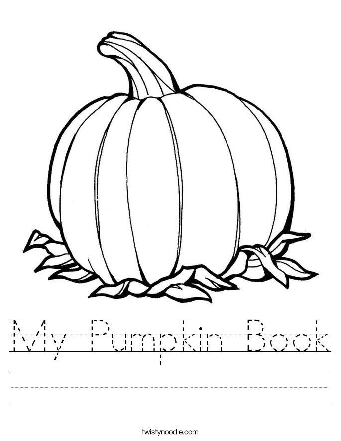 My Pumpkin Book Worksheet