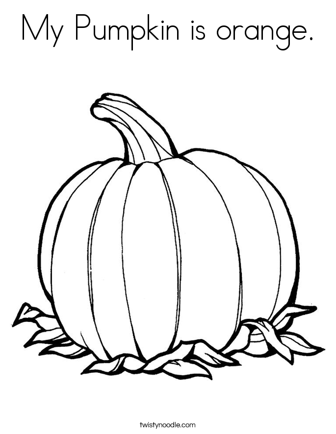My Pumpkin is orange. Coloring Page