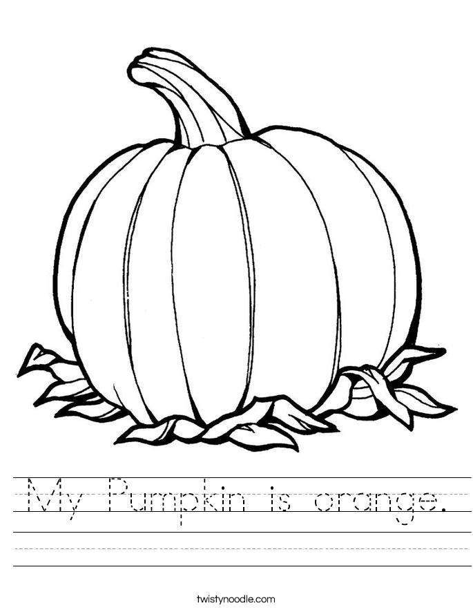 My Pumpkin is orange. Worksheet