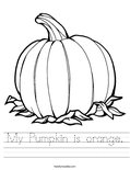 My Pumpkin is orange. Worksheet