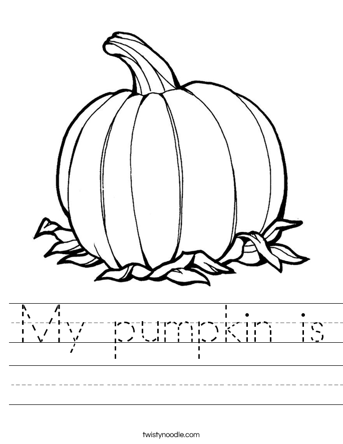 My pumpkin is Worksheet