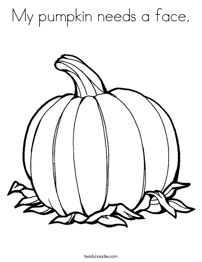 My pumpkin needs a face. Coloring Page