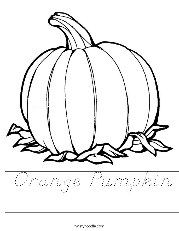 Orange Pumpkin Worksheet