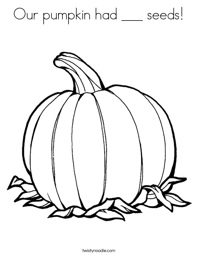 Our pumpkin had ___ seeds! Coloring Page
