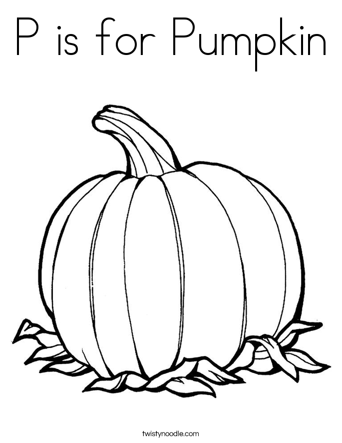 is for pumpkin coloring page twisty noodle