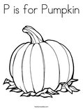 P is for PumpkinColoring Page