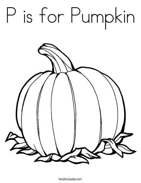 P is for Pumpkin Coloring Page - Twisty Noodle