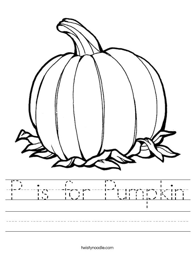 Pumpkin Worksheet P is for pumpkin worksheet.