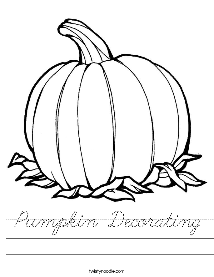 Pumpkin Decorating Worksheet