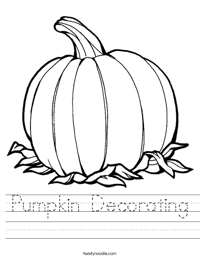 Pumpkin Decorating Worksheet