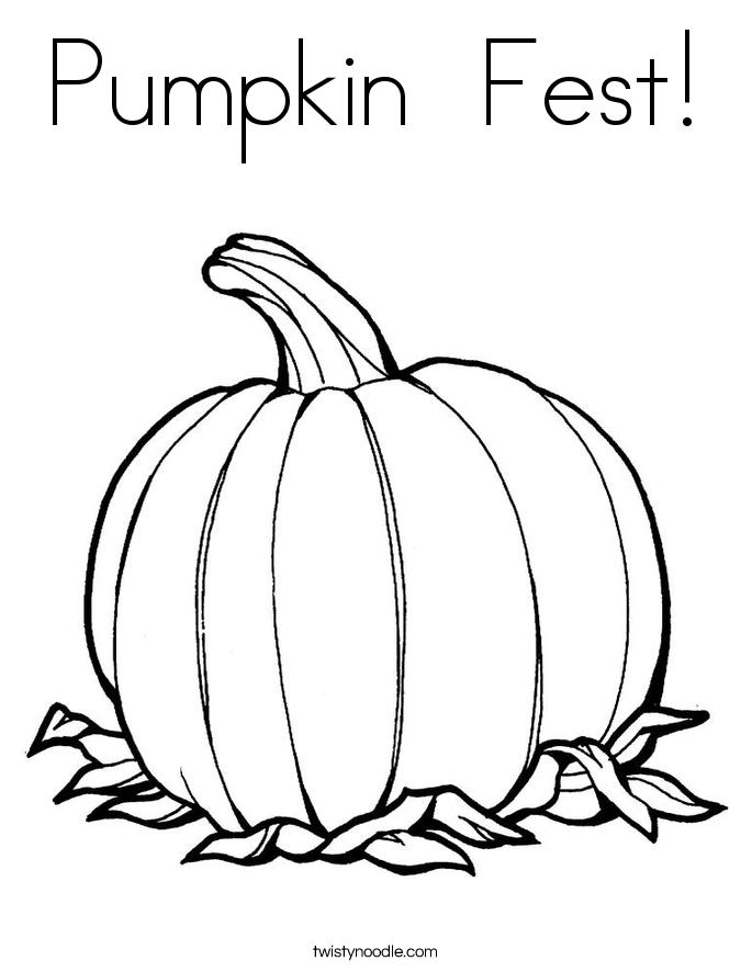 Pumpkin  Fest! Coloring Page