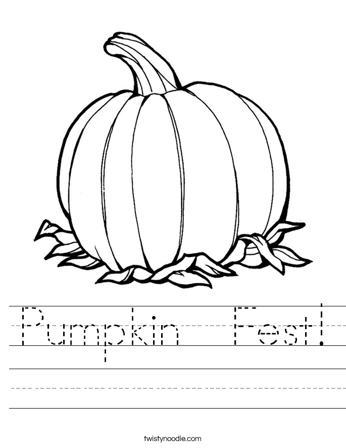 Pumpkin  Fest! Worksheet