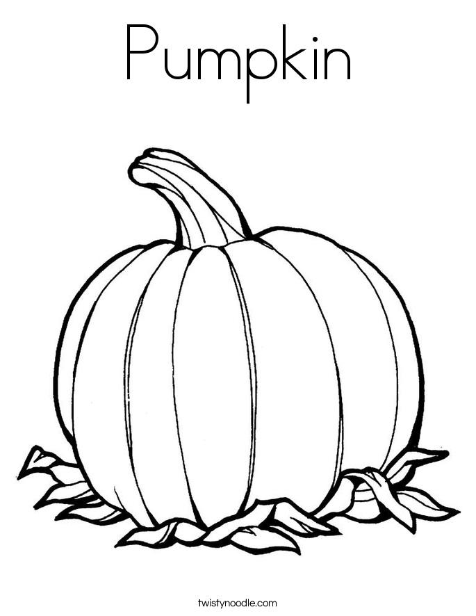 Pumpkin Coloring Page Twisty Noodle