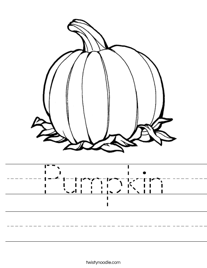 Pumpkin Worksheet