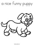 a nice funny puppy Coloring Page
