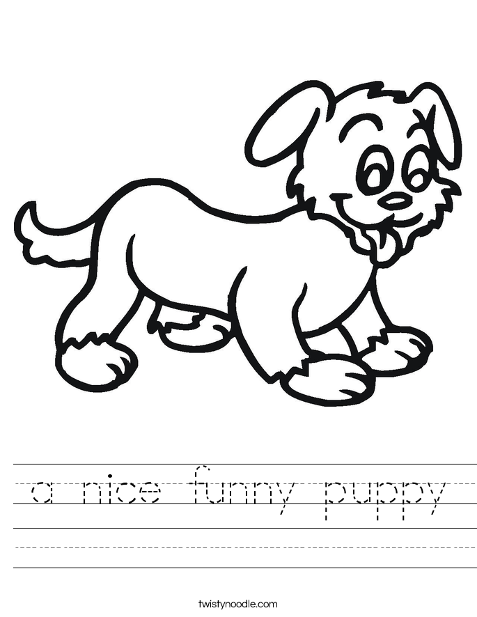 a nice funny puppy Worksheet
