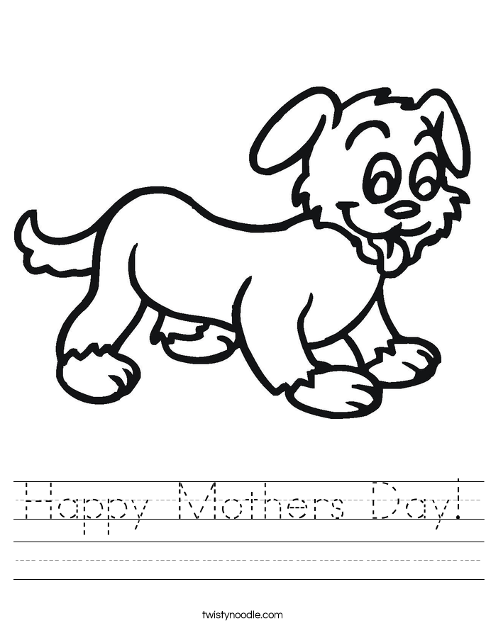 Happy Mothers Day! Worksheet
