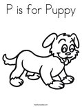 P is for PuppyColoring Page