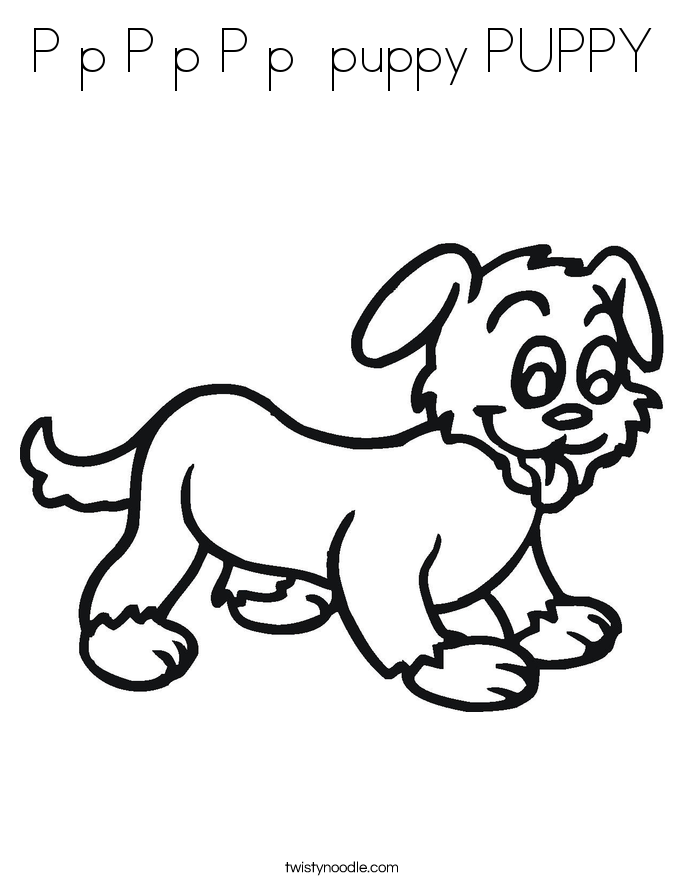 P p P p P p  puppy PUPPY Coloring Page