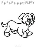 P p P p P p  puppy PUPPYColoring Page