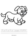 P p P p P p  puppy PUPPY Worksheet