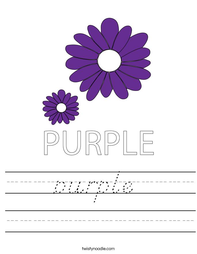 purple Worksheet