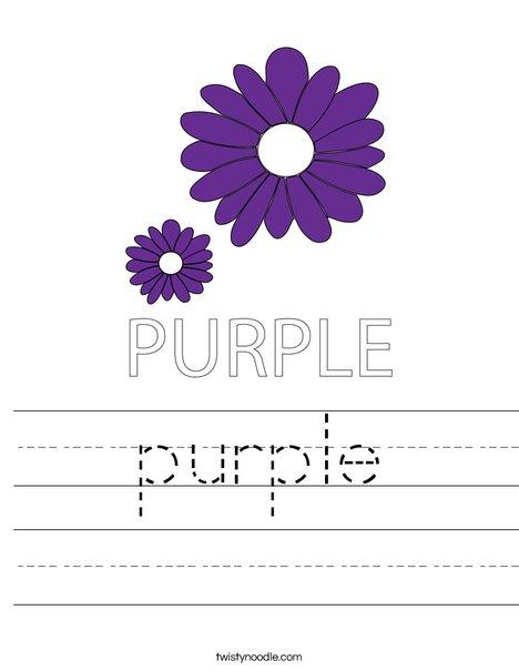 Purple Flower Worksheet