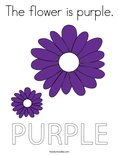 The flower is purple.Coloring Page