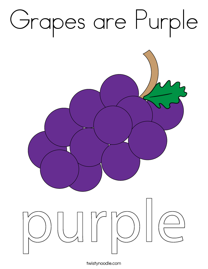 Grapes are Purple Coloring Page