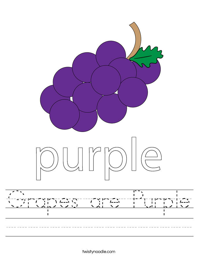 Grapes are Purple Worksheet