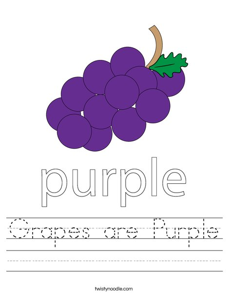Purple Grapes Worksheet